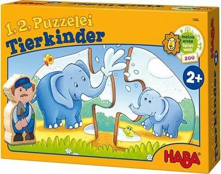 Puzzle edukacyjne Małe zwierzaki - zwierzęta i ich mamy, 2 lata +, VILAC