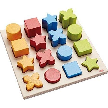 Nakładanka sorter kształtów i kolorów - układanka figur 2 lata +, Mieszanka Geomix, HABA