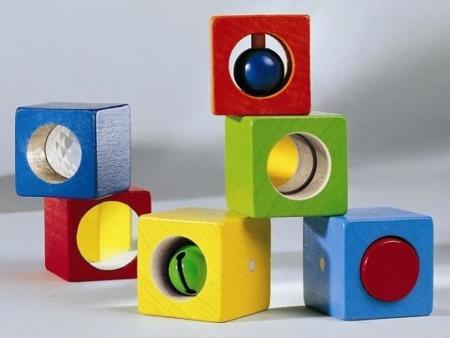 Klocki sensoryczne - rozwojowe Discovery 6 el., HABA