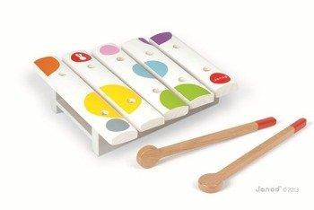 Cymbałki 5 tonów Janod z serii Confetti - drewniany instrument dla dzieci