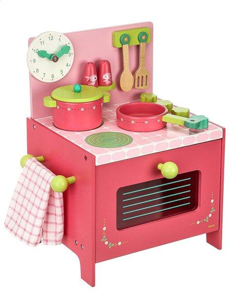 Drewniana Kuchnia Lili  kuchenka do zabawy dla dzieci z   -> Kuchnia Dla Dziecka Do Zabawy