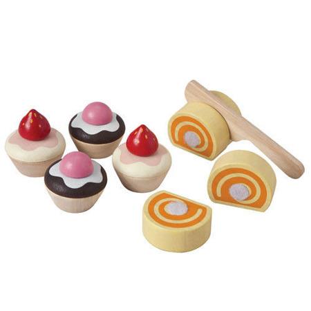 Ciasteczka akcesoria do cukierni i kuchni - zestaw do zabawy w sklep i gotowanie, Plan Toys