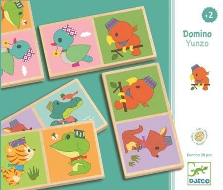 Drewniane domino - gra Yunzo, 2 lata +, DJECO