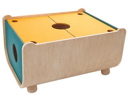 Drewniana skrzynia na zabawki, pudełko - ekologiczny, modny design do pokoju dziecka, zestaw Plan Toys