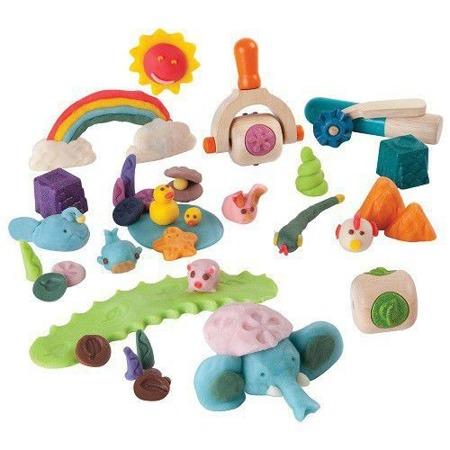 Drewniane akcesoria do ciastoliny, masy solnej - ciastolinowe zwierzątka, Plan Toys