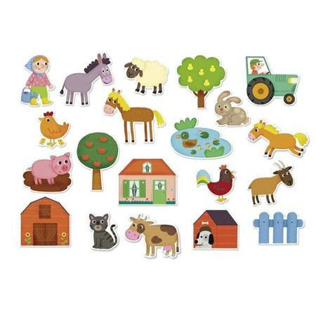 Drewniane magnesy FARMA - zwierzęta na wsi, 2+, VILAC