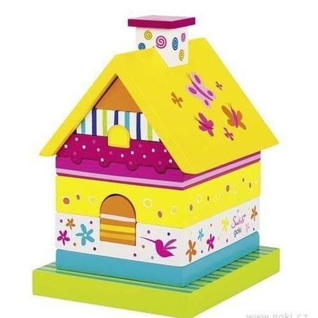 Drewniany domek SUSIBELLE - klocki, sorter, Goki