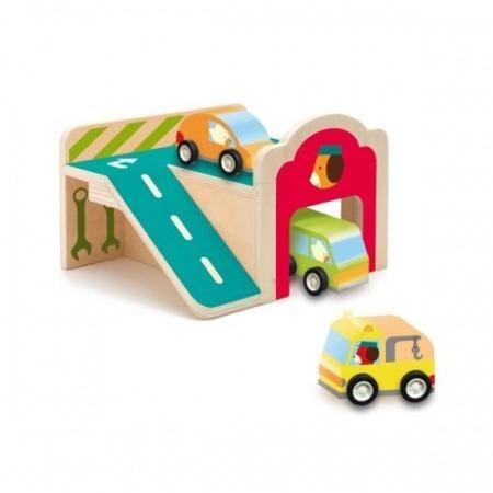 Drewniany garaż samochodowy - pierwszy garaż malucha, DJECO