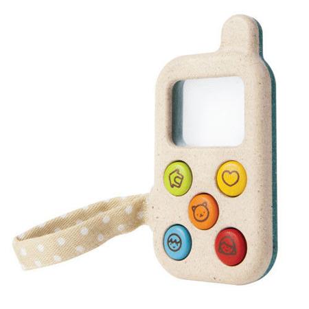 Drewniany telefon komórka dla dziecka - Mój pierwszy telefon, Plan Toys PLTO-5674