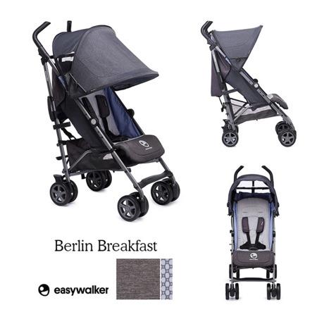 Wózek spacerowy dla dzieci z osłonką przeciwdeszczową Berlin Breakfast kolekcja 2018, Easywalker Buggy+