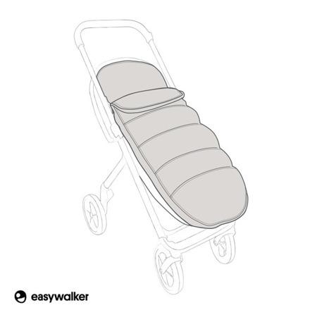 Easywalker Mosey+  Śpiworek do wózka na zimę uniwersalny Charcoal Blue