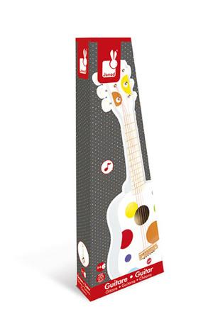 Gitara sześciostrunowa Janod z serii Confetti - drewniany instrument dla dzieci