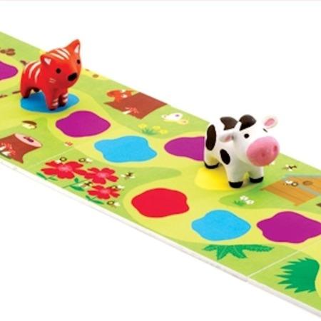 """Gonitwa zwierzątek - gra planszowa """"wyścigi zwierząt"""" dla dzieci 2,5 lata DJECO DJ08550"""