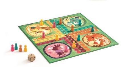 Gra chińczyk - gra towarzyska chińczyk dla dzieci, zwierzęta leśne DJECO DJ05215
