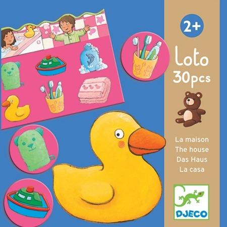Gra edukacyjna loto DOM - loteryjka obrazkowa, 2 lata +, DJECO DJ08121