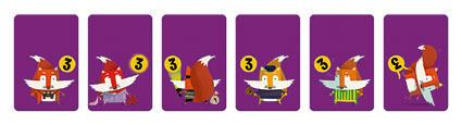 Gra karciana Pojedynek zwierząt, 3 lata +, 36 el. JANOD