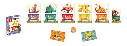 Gra karciana Wagoniki - 54 karty, 3 lata +, JANOD