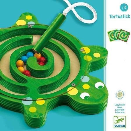 Gra labirynt żółw - gra zręcznościowa dla dzieci, labirynt z kulkami DJECO