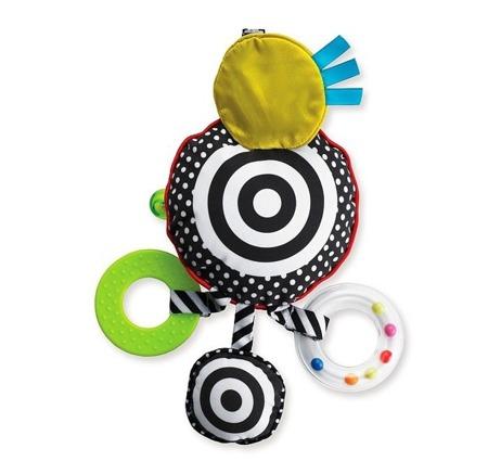Grzechotka czerwono czarno biała dla niemowląt rozwijająca wzrok - Wimmer Ferguson, Manhattan Toy