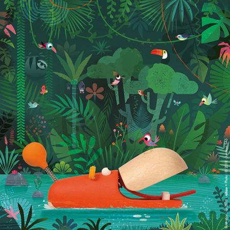 Hipopotam drewniany do ciągnięcia Zigolos, Janod