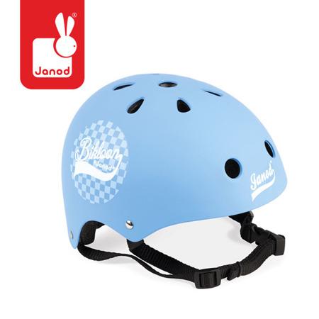 Kask rowerowy dla dzieci niebieski, regulowany 47-54 cm (3 lata +), Janod J03273