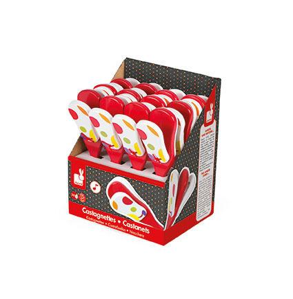 Kastaniety drewniane Confetti, JANOD (opakowanie zbiorcze 12 sztuk)
