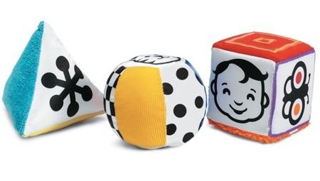 Kontrastowe figury dla niemowląt - sensoryczne figury rozwijające wzrok i zmysły 0m+, Manhattan Toy