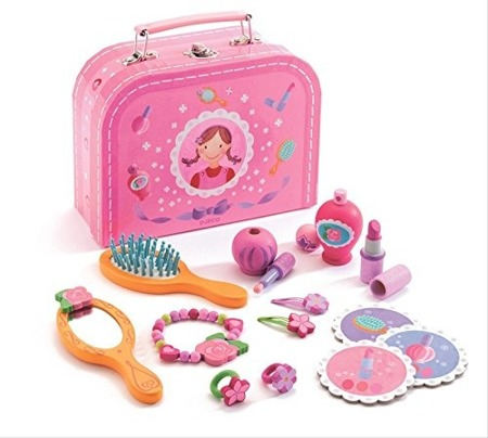 Kuferek kosmetyczny dla dziewczynki - zestaw piękności małej damy, DJECO