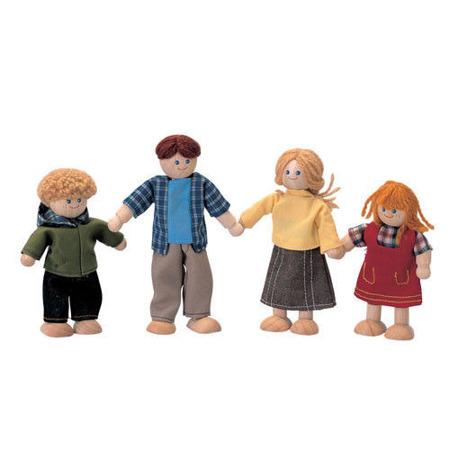 Lalki do domku dla lalek z drewna - rodzina drewnianych lalek, Plan Toys PLTO-7415