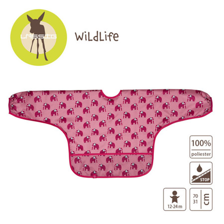 Lassig Śliniak z długim rękawem 12-24m Wildlife Słoń