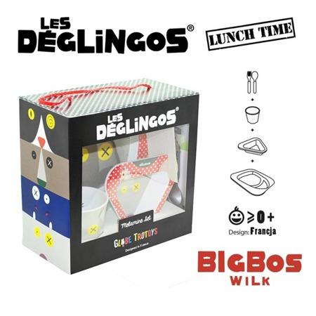 Les Deglingos Zestaw z melaminy Wilk Bigbos