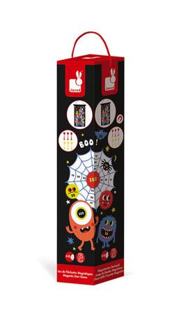 Magnetyczna gra w rzutki Potwory - tarcza + rzutki magnetyczne, 4 lata +, Janod