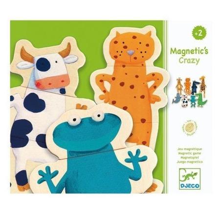 Magnetyczna układanka zwierzątka - śmieszne zwierzaki DJECO DJ03111