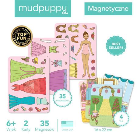 Magnetyczne Postacie Królewski bal 6+ - układanka magnetyczna Królewny, Mudpuppy