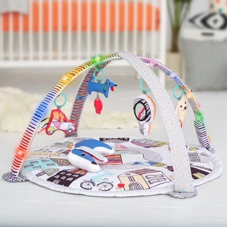 Mata edukacyjna dla niemowlaka - czarno biała podświetlana mata Wesołe podwórko, SKIP HOP 307250