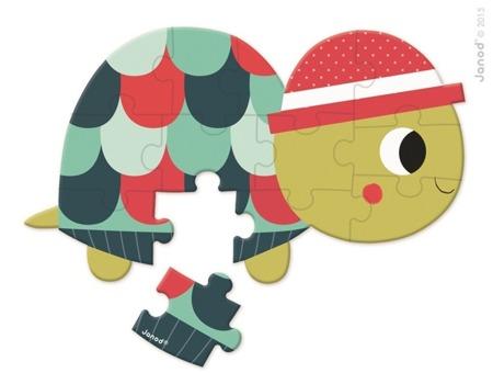 Mini puzzle Baby Forest 12 elementów opakowanie zbiorcze 12 szt. (6 wzorów), Janod
