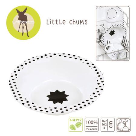 Miseczka dla dzieci do jedzenia z melaminy Little Chums Kot, Lassig