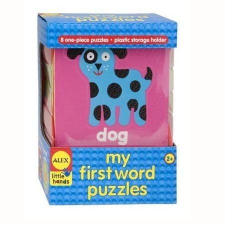 Moje pierwsze słowa po angielsku – puzzle edukacyjne, karty piankowe, Alex A588WN