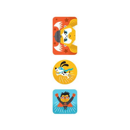 Naklejki dla dzieci na rolce Superbohaterowie 100 szt. Mudpuppy