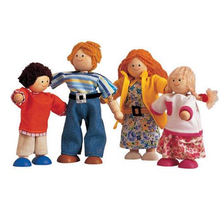 Nowoczesna rodzina lalek - lalki do domku dla lalek Plan Toys, PLTO-7142