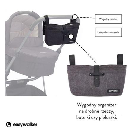 Organizer do wózka, czarna torba, saszetka uniwersalna, Easywalker