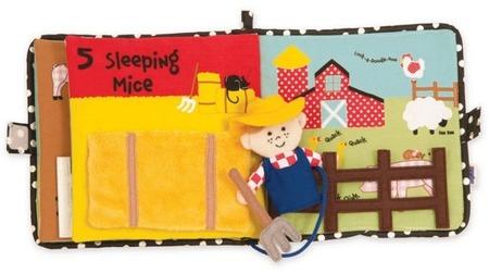 Pierwsza książeczka dziecka - książka edukacyjna, interaktywna dla niemowląt, rolnik na farmie