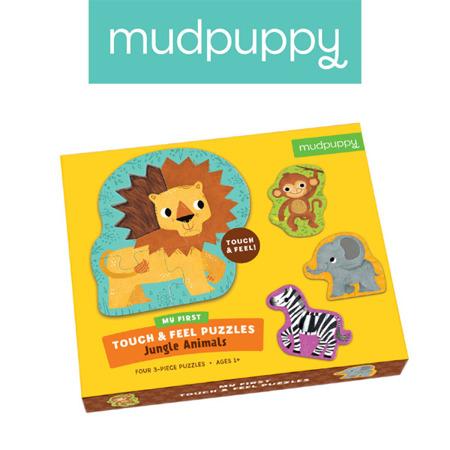 Pierwsze puzzle sensoryczne Zwierzęta Dżungli 1+ (12m+), Mudpuppy