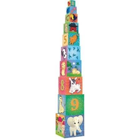 Piramida, wieża z klocków - zwierzęta świata, 2+, VILAC