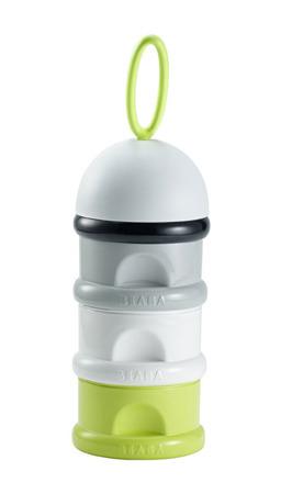 Pojemniki na mleko w proszku neon - 3 komory x 90ml = 270ml, na spacer, podróż, BEABA