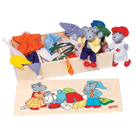 Przebieranka myszek - zabawa w ubieranie i przebieranie postaci, GOKI