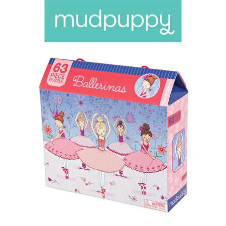 Puzzle Baletnice w różowych strojach 63 elementy 4+, Mudpuppy