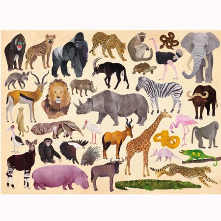 Puzzle Dzikie Zwierzęta - 300 el., 50 x 68 cm, 5 lat +, Crocodile Creek