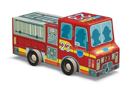 Puzzle Straż pożarna - puzzle wóz strażacki dla dzieci 4 lata+, Crocodile Creek