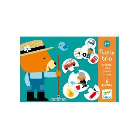 Puzzle Trio Zawody - nauka zawodów dla dzieci, Djeco